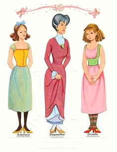 CINDERELLA {} PRINCE CHARMING  {} STEPMOTHER  {}  STEPSISTERS  8 of 8