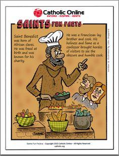 Saints Fun Facts - St. Benedict by Catholic Shopping .com | Catholic Shopping .com FREE Digital Download PDF