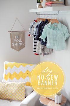 DIY No-Sew Pennant Style Banner - Fresh Mommy Blog