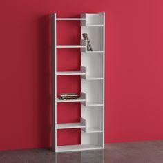 Decortie Oppa Bookcase, White | ACHICA
