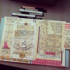 Photo by holddear. I just love this...art journaling, so gorgeous!