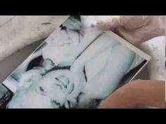 Trasferire un'immagine sul legno - DIY Quadretto di Marilyn Monroe - YouTube