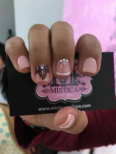 trendy ideas for nails verano acrilico Nail Designs Spring, Gel Nail Designs, Nails Design, Short Nails Art, Nails 2018, Latest Nail Art, Pretty Nail Art, Elegant Nails, Artificial Nails