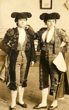 Two Lady matadors - Creepy... well sorta of. Awesome...Hella Ya!!