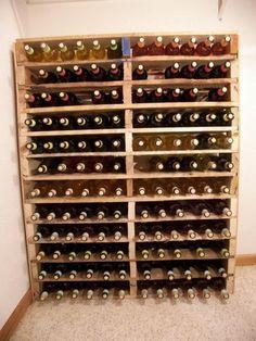 Cave à vin à partir de palette en bois http://www.homelisty.com/meuble-en-palette/