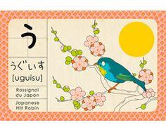 """Abécédaire japonais Madame Mo """"Uguisu"""""""