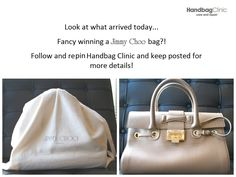 0c40becf5 Handbag Clinic · Wow! Look at what arrived today... Fancy winning a Jimmy  Choo bag?