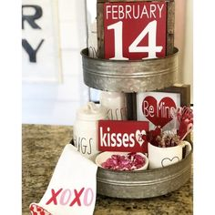 Valentine Tiered Trays The Cozy Farmhouse