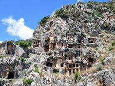 Myra, rock-cut tombs.