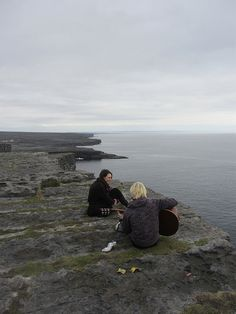 Locals enjoy the scenery, off a cliff on The Aran Islands, Ireland 2 - Meaghan O'Connor by APIstudyabroad, via Flickr