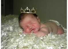 Sweet sleeping princess...use a crown on your pregnant belly and then on the newborn and for 1 year pics!