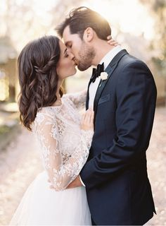 Beautiful Lace Wedding Inspiration from oncewed.com #wedding #bride #groom #lace #charleston #modern #elegant #classic #weddingdress #suit