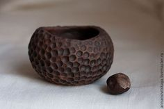 Red earthenware milk-fired small bowl.