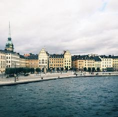 """""""This is the view you get with the subway between Slussen and Gamla Stan. #visitstockholm #stockholm"""""""