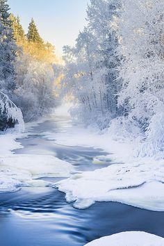 ˚Winter River - Finland