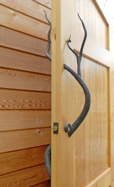 Blacksmith Forged Custom Design, Daniel Hopper Design, Iron / Steel, Antler Door Knob / Handle