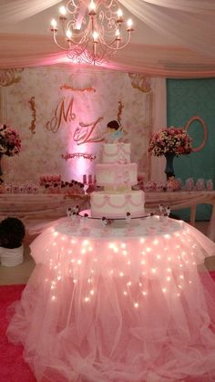 Spectacular Princess Birthday Decorations - Best Resources and Party Service Guide Ballerina Party, Ballerina Birthday Parties, Birthday Cake Girls, Princess Birthday, Baby Birthday, Princess Party, Ballerina Baby Showers, Pink Princess, Princess Diana