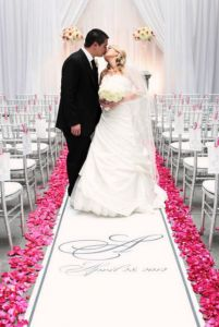 simple but sweet aisle runner photo.  Runner by The Original Runner Company.  www.originalrunners.com