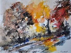 watercolor by Ledent Pol