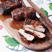 Cocoa-and-Chile-Rubbed Pork Chops, Recipe from Cooking.com