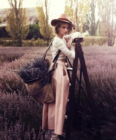 fantasy job: run away and become a fabulously hatted lavender picker in the South of France