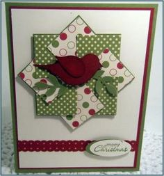 Stampin Up Bird Punch Christmas Cards | Stampin' Up! – Stamp a Stack…. | craftingcottage by noemi