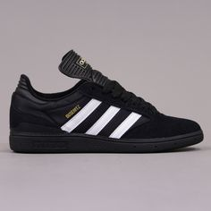 Adidas Skateboaring Busenitz Pro Shoes Black Running White And Blac
