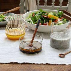 Homemade Salad Dressing l Balsamic, Black Sesame, Orange Dressings [Wife. K Food, Korean Food, Salad Dressing, Healthy Habits, Brunch, Cooking Recipes, Kitchen Appliances, Homemade, Black Sesame