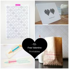 10 Free Valentine Printables via Babble