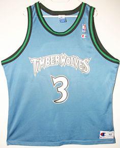 ... Champion NBA Basketball Minnesota Timberwolves 3 Stephon Marbury Trikot  Jersey Size 48 - Größe ... 3f582fb7d