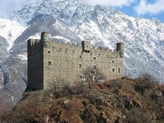 Val D'Aosta - Castello di Ussel, Chatillon, località Ussel. 45°44′29.6″N 7°37′42.6″E