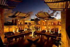 Eco-chic resorts on the Yucatan Peninsula - Houston Chronicle The open-air, water-enclosed lobby at the Banyan Tree Mayakoba. Photos by: Mayakoba