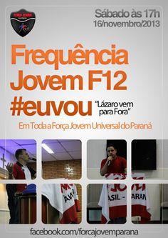 Flyer #euvou - F12 FJU Paraná