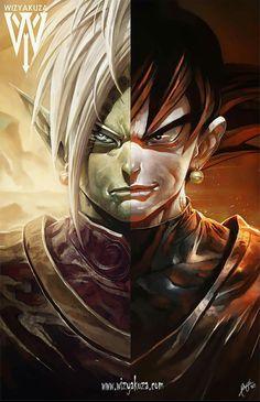 Zamasu/Black Goku by ''Wizyakuza,,- CLS
