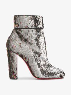 CHRISTIAN LOUBOUTIN MOULAMAX 100 SEQUINED ANKLE BOOTS. #christianlouboutin #shoes #boots