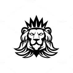 Lion logo Template by MustaART on Creative Market: - Tatuering Lion Design, Animal Design, Leon Logo, Logo Lion, Lion Drawing, Lion Art, Animal Logo, Creative Logo, Logo Design Inspiration