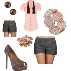 girl's night out, created by monica-narvaez on Polyvore