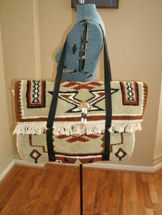 Vintage Navajo Carpet Bag: DIY