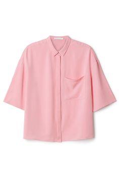 Weekday 3/4 sleeve pink shirt
