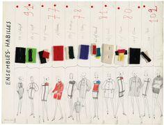 Yves Saint-Laurent. Extrait de la charte de la collection A/H 1965-66.