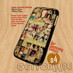 Quote All Disney Caracters- Print On Hard Case Samsung Galaxy S4 i9500   GetToMade - Accessories on ArtFire