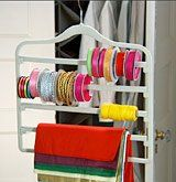 Slimline Hangers - use them to store ribbon & gift-wrap OR bangles (best way to store Indian bangles)