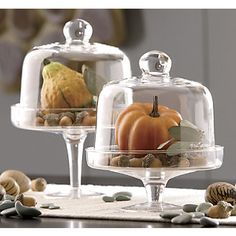 Country home dessert pedestals with domes...need to do this :)