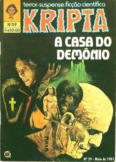 Revista Kripta #59 - RGE (1976) - Quadrinhos de terror, suspense, ficção e sobrenatural