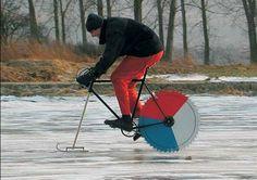 Ice biking? #new #fun #ice# winter #cycling #biking #creative #bikelove #red #white #blue #cold #sport #enjoy