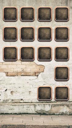 Old wall ; #vintage style shelves wallpaper- @mobile9