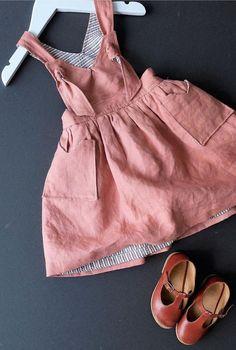 Handmade Linen Pinafore Dress | YouAreSmall on Etsy
