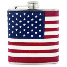 True Brands Foster & Rye 6 Ounce American Flag Flask Red, White, Blue... ($17) ❤ liked on Polyvore featuring home, kitchen & dining, bar tools, barware, drinking flask, american flag flask and pocket flask