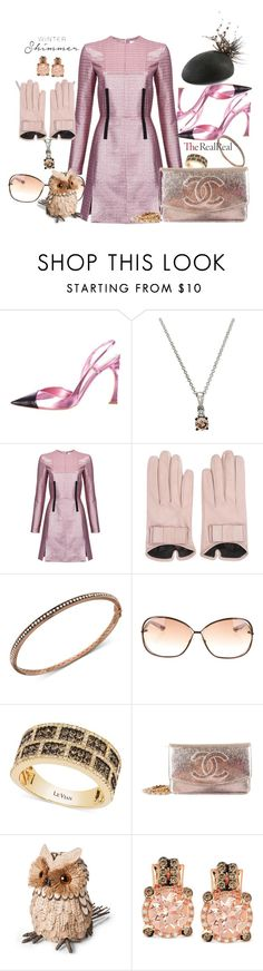 """Holiday Sparkle With The RealReal: Contest Entry"" by nanniehatter ❤ liked on Polyvore featuring Christian Dior, LE VIAN, Carven, Mario Portolano, Tom Ford, Chanel, Smith & Hawken, Rosie Olivia and Pink"