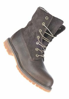 TIMBERLAND - Womens Authentics Teddy Fleece Waterproof Fold Down Boot dark brown forty